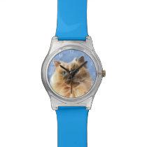 Himalayan kitty cat face wristwatch