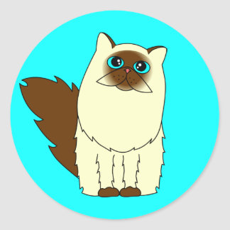 Himalayan Persian Cat Classic Round Sticker