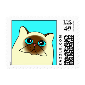 Himalayan Persian Cat Postage Stamp