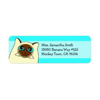 Himalayan Persian Cat Return Address Labels