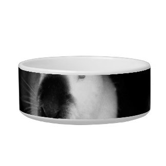 Himalayan Rabbit BW Photo in round can Bowl