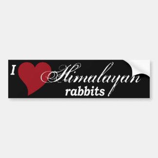 Himalayan rabbits bumper sticker
