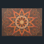 "Himalayan Salt Lamp KM3 Cloth Placemat<br><div class=""desc"">A kaleidoscope mandala of a Himalayan Salt Lamp.</div>"