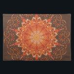 """Himalayan Salt Lamp Mandala Placemat<br><div class=""""desc"""">A kaleidoscope mandala of a Himalayan Salt Lamp.</div>"""