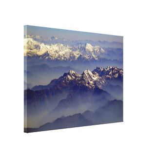 Himalayas Landscape Stretched Canvas Prints
