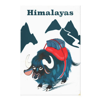 Himalayas Vintage travel poster Canvas Print