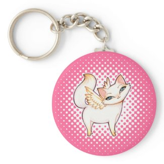 Hime Kitty Goth Lolita Anime Kawaii Angel Cat Art keychain