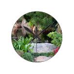 Himeji Japanese garden, Adelaide 4 Round Wallclock