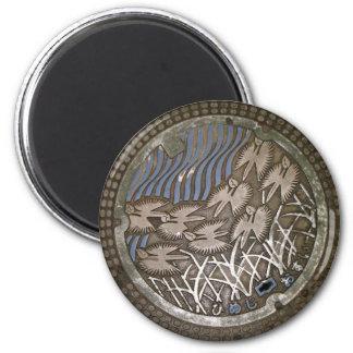 Himeji Manhole Cover 2 Inch Round Magnet