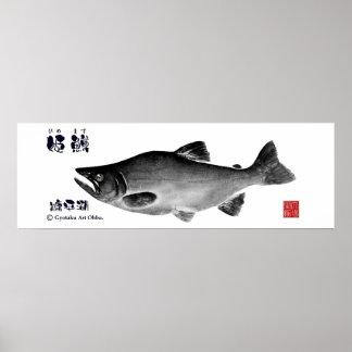 himemasu! < Nukahira lake >Approximately 90×30 Poster
