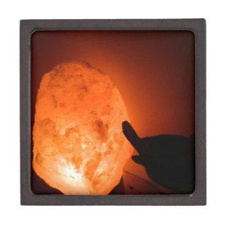 Himilayan Salt Lamp with Bird Jewelry Box