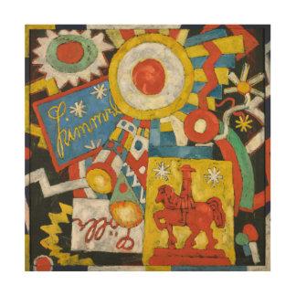 Himmel de Marsden Hartley, expresionismo del Impresión En Madera