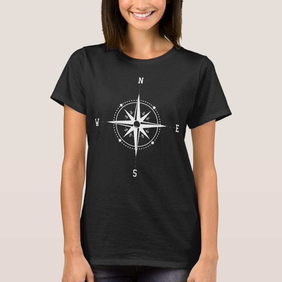 Himmelsrichtungen Kompass Westen Osten T-Shirt - Best Selling Long-Sleeve Street Fashion Shirt Designs
