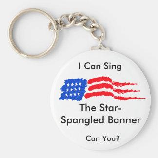 Himno americano llavero redondo tipo pin