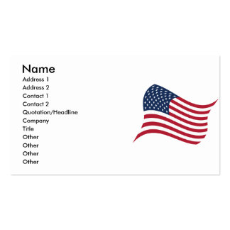 Himno americano tarjetas de visita