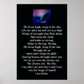 Himno del indio del nativo americano impresiones