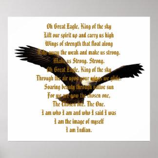 Himno del indio del nativo americano posters