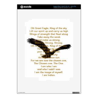 Himno del indio del nativo americano pegatinas skins para iPad 3