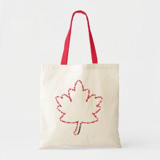 Himno nacional de O Canadá en una hoja de arce Bolsa Tela Barata