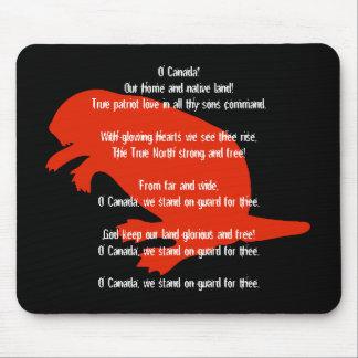 Himno negro rojo Mousepad del castor del día de Ca Alfombrillas De Raton