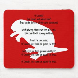 Himno rojo blanco Mousepad del castor del día de C Tapetes De Ratones