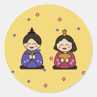 Hina Ningyo Classic Round Sticker