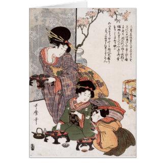 Hinamatsuri (el festival) del chica Kitagawa Utama Tarjeton