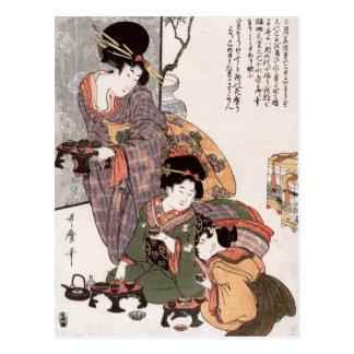 Hinamatsuri (Girl's Festival) Kitagawa Utamaro Post Cards