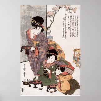 Hinamatsuri (Girl's Festival) Kitagawa Utamaro Poster