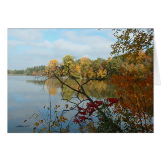 Hinckley Lake in Autumn Card