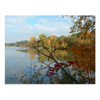 Hinckley Lake in Autumn Postcard