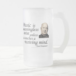 Hindemith on Music and Noise 16 Oz Frosted Glass Beer Mug