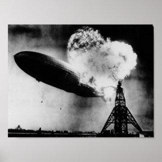 Hindenburg Disaster - Zeppelin Explosion Poster