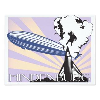 "Hindenburg Invitación 4.25"" X 5.5"""