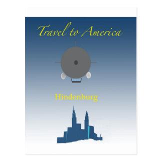 Hindenburg Post Card