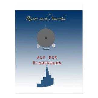 Hindenburg Zeppelin Postcard