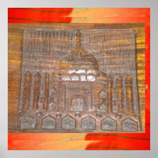 hindi de la India del castillo del Taj Mahal de la