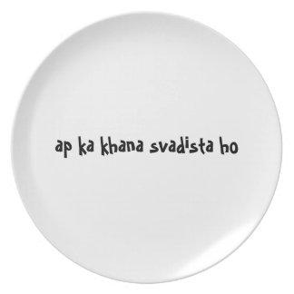 Hindi de la placa del appetit del Bon - svadista Plato Para Fiesta