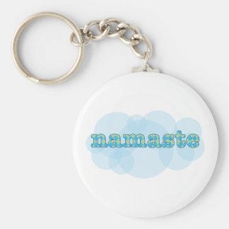 hindi Hello namaste in argyle Keychain