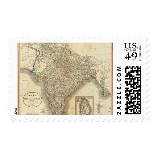 Hindoostan, Ceylon Postage Stamp