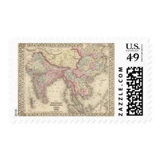 Hindoostan, la India más lejana, China, Tíbet 2 Timbres Postales