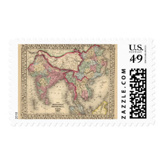 Hindoostan, la India más lejana, China, Tíbet Timbre Postal