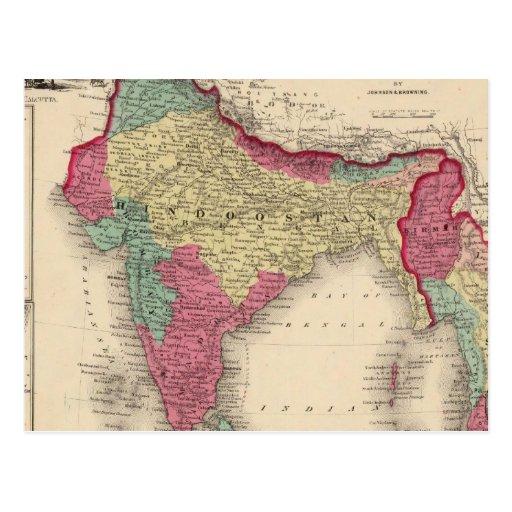 Hindostan o la India británica Tarjetas Postales
