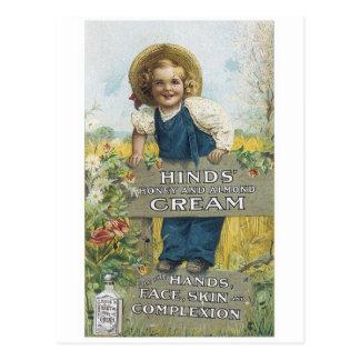 Hinds Cream Postcard