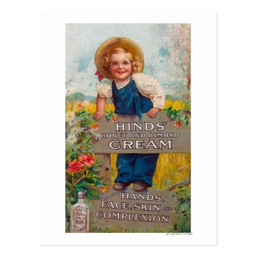 Hinds' Honey and Almond Cream Lotion Postcard