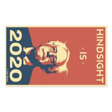 Zev_Deans HINDSIGHT IS 2020 RECTANGULAR STICKER