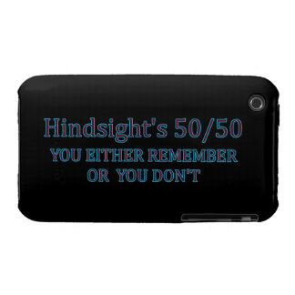 Hindsight's 50/50 You Either Remember Or You Don't Case-Mate iPhone 3 Cases