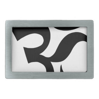 hindu3 rectangular belt buckle