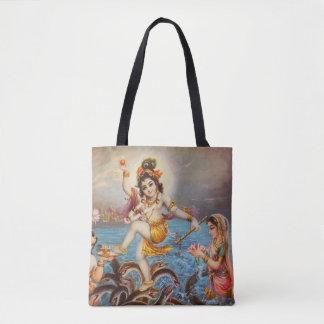 Hindu all over printed Tote