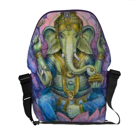 Hindu Art Gifts Ganesha elephant Messenger Bag